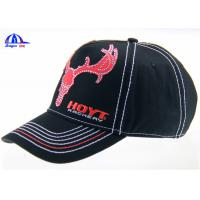 Quality 6 Panel Embroidered Custom Baseball Caps Washed and Breathable for Advertising for sale