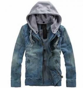 Quality Winter Denim Jean Hooded Anorak Jacket 100% Heavy Cotton Zipper Front for sale
