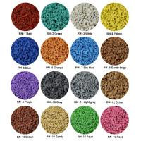Buy Sulphur Cured EPDM Rubber Granules , Customized Athletic Tracks Coloured Rubber Crumb at wholesale prices