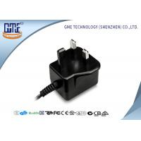 Quality Black Color 12v 1A Wall Mount Power Adapter / Supply With 1 Year Warranty for sale
