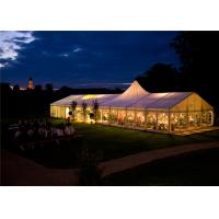 Quality 18m*35m Shelter Structure Fireproof Canvas Mixed Marquee Timeless Event Tent for sale