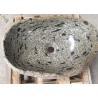 Multi Color Stone Sink Bowl / Granite Bathroom Sinks Irregular Shape With Polishing Inside Face for sale