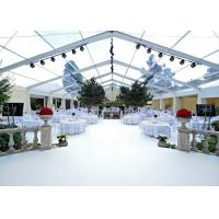 Quality High Reinforced Aluminum Clear Span Tent 15m By 30 M Marquee With Transparent Wall for sale