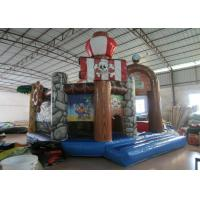 Quality Kids Bouncy Castle With Slide 5 X 6m , Water Park Pirate Ship Baby Jumping Castle for sale