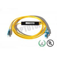 Quality 1x2 1310/1550nm Fused Fiber Optic Splitter 2mm Corning OS2 Cable with SC/UPC Connector for sale