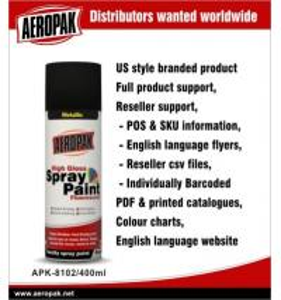 Quality Metallic Aerosol Spray Paints / Acrylic Spray Paint Black For Wood Furniture for sale