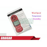 Buy Red 8 In 1 Anemometer Wind Speed Meter / TL-302 humdity Tester Beaufort Scale at wholesale prices