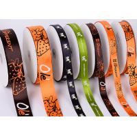Quality White Custom Printed Ribbon Eco Friendly Soft Thin Attractive Look Polyester for sale