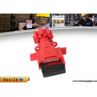 Quality Durable Valve Lockout Tagout , Red Universal Gas Valve Lockout Device for sale