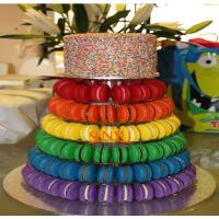 Buy Macaron Food Display Trays More Layers Transparent , Plastic Dispaly Stand at wholesale prices
