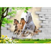 Quality Fashionable And Noble 3D Bamboo Wall Panels Galloping Horse For TV Or Sofa Wall for sale