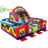 Quality Commercial Inflatables Obstacle Course For Children Double Competition Game for sale