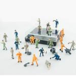 Quality 1:87 color railroad scale figures,model worker figures,1/87 figures,HO Scale miniature Figures for sale