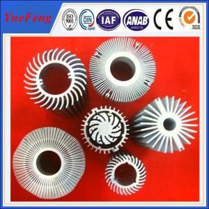 Quality Hot sale aluminium led profile, top aluminium factory OEM led aluminium sunflower radiator for sale