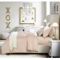 Buy cheap light pink  pleat   cotton duvet cover sets  double  queen  king from wholesalers