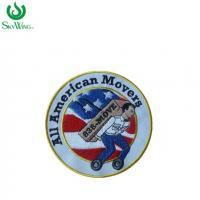 Quality Handmade Iron On Small Run Embroidered Patches For Garments 3 Inches Size for sale