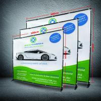 Quality 8 X 8 Collapsible Display Stand, Dye - Sub Printing Retractable Banner Display for sale