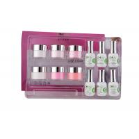 Quality Smooth French Dip Kit Non - Yellowing , White And Pink French Nail Art Kit for sale