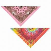 Quality Pet Bandana, Available in Different Sizes, Made of T/C or 100% Cotton or Polyester for sale