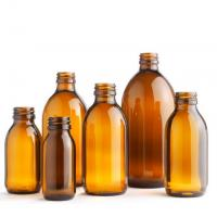 Buy 30ml 60ml 100ml 125ml 150ml 200ml Oral liquid Cough Syrup Glass Amber Round Bottle at wholesale prices