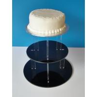 Quality 3-Tier Acrylic Bakery Display Case , 5mm thick weddingcake Display Stand Rack for sale