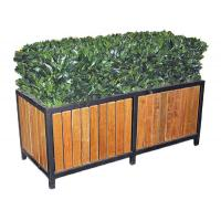 Quality Commercial Metal Home Furniture Rectangular Steel Garden Planter Boxes For Public for sale