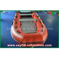 Quality Durable Tarpaulin PVC Inflatable Boats with Aluminum Floor and Paddles for sale