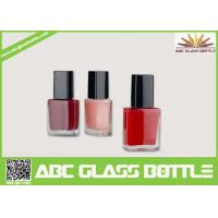 Quality High quality 15ml clear empty elegant square nail polish oil glass bottle with cap and brush wholesale for sale