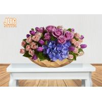 Buy Gold Leafed Fiberglass Flower Serving Bowl Decorative Table Vases Boat Shape at wholesale prices