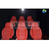 Quality Black Mobile 5D Cinema Track Box 6 Seats Inside With 4 Wheels for sale