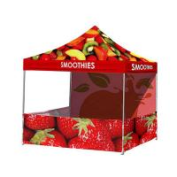 Quality Vivid Image Promotional Pop Up Tent  , Ez Up Canopy 10x10 Popular No Loose Parts for sale