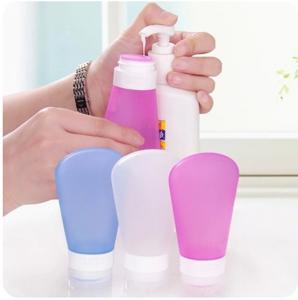 Quality Wholesale colorful mini bpa free silicone triangle shape perfume bottle for sale