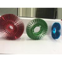Buy Red Anodized Aluminum Sunflower Radiator Led Cylindrical Heat Sink for Tracking at wholesale prices