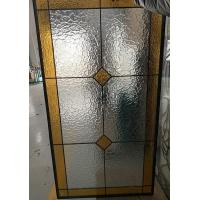 Quality Decorative door inserts thickness 25.4MM  with brass came for sale