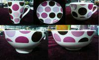 Quality Beautiful Dinner Set with Colorful Round Spot for sale