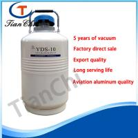 Quality Hot sale portable small liquid nitrogen ice cream dewar flask 10L cryogenic tank for sale