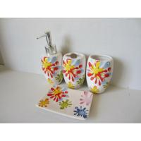 Quality Sunflower Modern Ceramic Bathroom Accessories Set Shining Finish For Home for sale