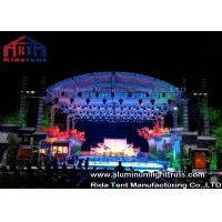 China High Loading Silver Aluminum Lighting Truss , Stage Truss System With Tuv  Certification on sale