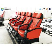 Quality Soundproof Genuine Leather + PU 4D Movie Theater , Cinema Hall 4DM Motion Chair for sale