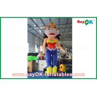 Quality 2m Height Inflatable Cartoon Characters Inflatable Bossy Cow With Built - In Blower for sale
