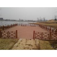 Buy cheap Chinese Publich Park WPC Fence and Decking For Water gallery pavilion from wholesalers