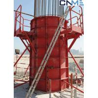 Quality High Stiffness Circular Column Formwork Systems Channel Steel Material Red Color for sale