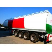Quality 4 Axle 60K Liter Diesel Tank Semi Trailer With First Axle Lifting Aire Bag Spring for sale