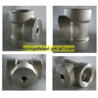 Quality stainless ASTM A182 F304 threaded tee for sale