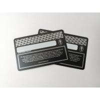 Buy Durable Matte Black Metal Business Cards With Silver Printing And Signature at wholesale prices