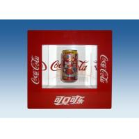Quality Window Shape Red Acrylic Levitation Floating Display With Silk Screen Printing for sale