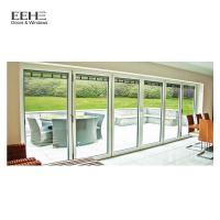 Quality Wear Resistant Aluminium Folding Doors With Argon Between The Glasses for sale