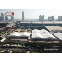 Buy cheap 50m Span Width Aluminum PVC Structure Outdoor Exhibition Tents Canton Fair Trade Show from wholesalers