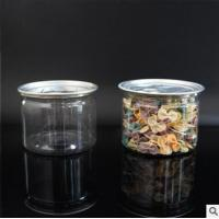 Quality Eco-friendly Food-grade Clear PET Plastic Jars with Plastic Screw Lids for Tea for sale