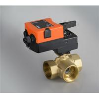 3 Way Motorized Brass Ball Valve 24VAC/DC Power Supply For Automatic Control for sale